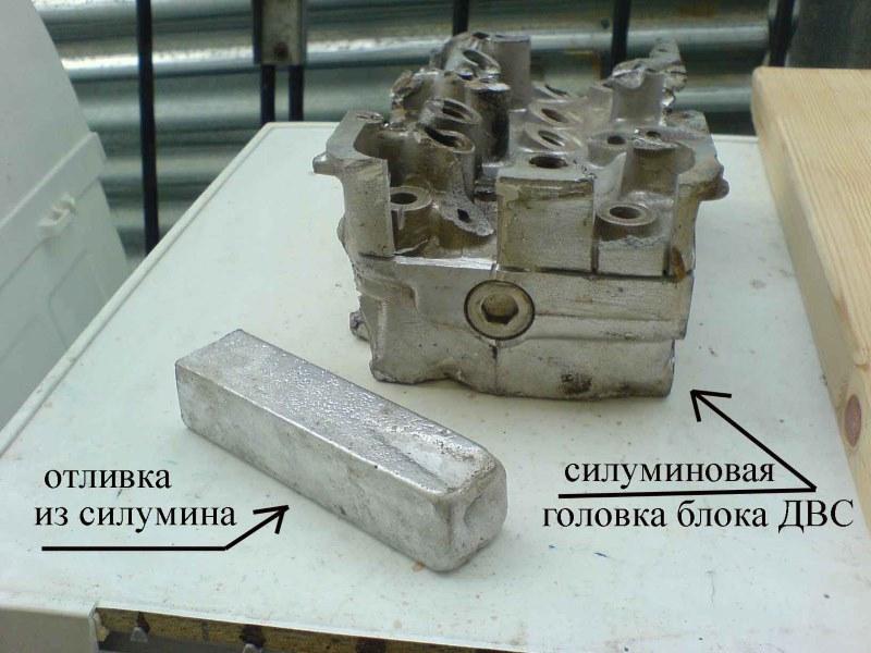 Силуминовая головка блока ДВС