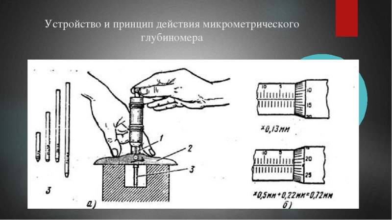 Устройство и принцип работы глубиномера микрометрического