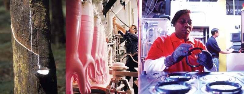 Промышленное применение натурального каучука