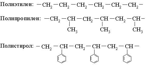 Формулы термопластичных полимеров