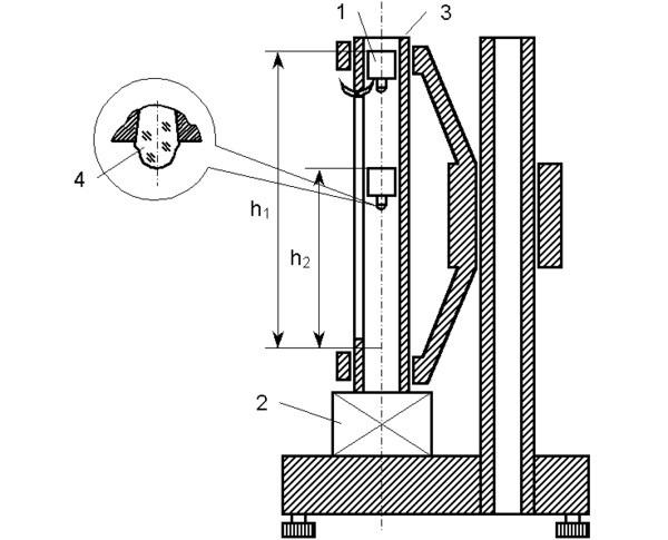 Схема склероскопа Шора