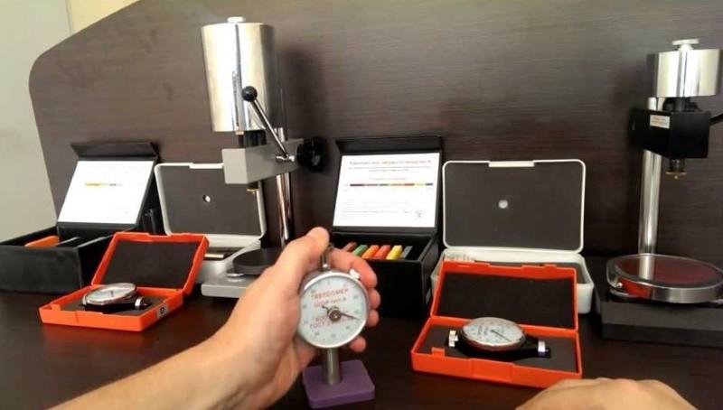 Проведение измерений методом Шора