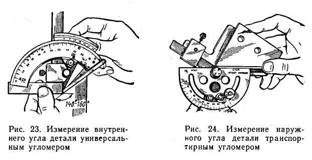 Методы измерения угломерным инструментом