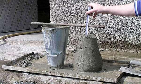 Пластичность литого бетона