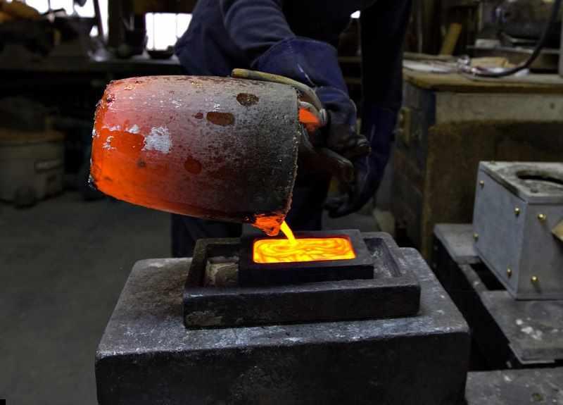 Выжигаемая форма для литья меди