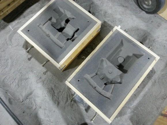 формы из песчано-глиняной формовочной смеси