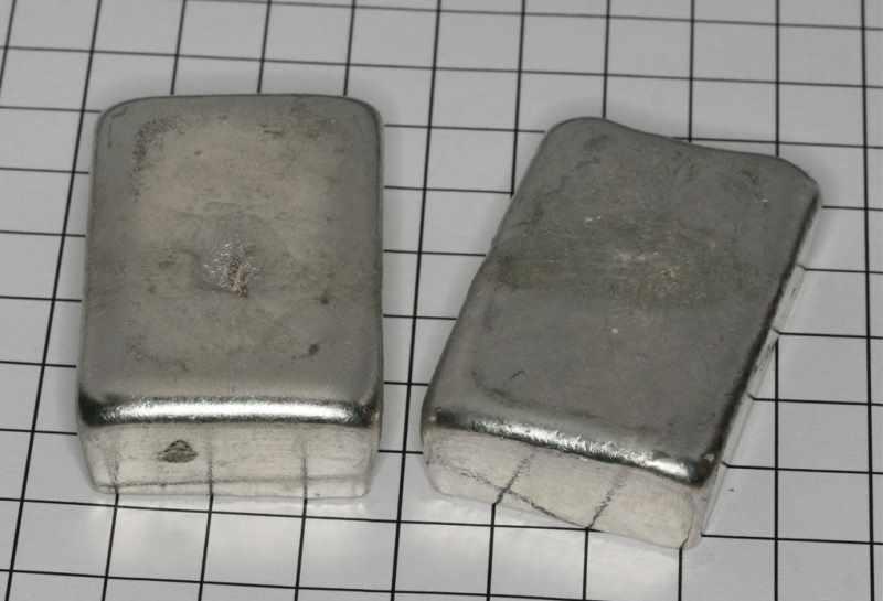 Слитки серебра для литья