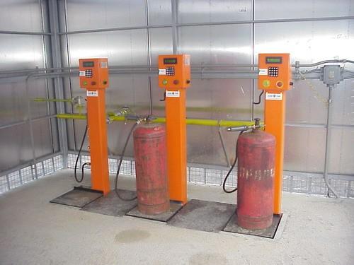 Весовая установка для наполнения газового баллона