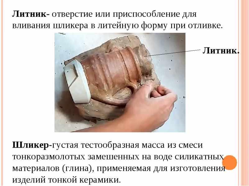 Состав шликера для литья