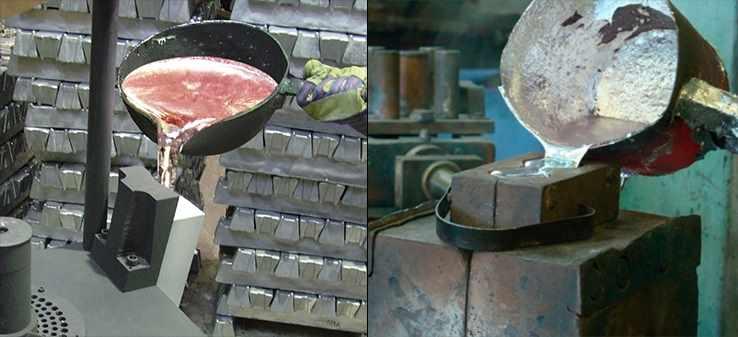 Статическая заливка металла
