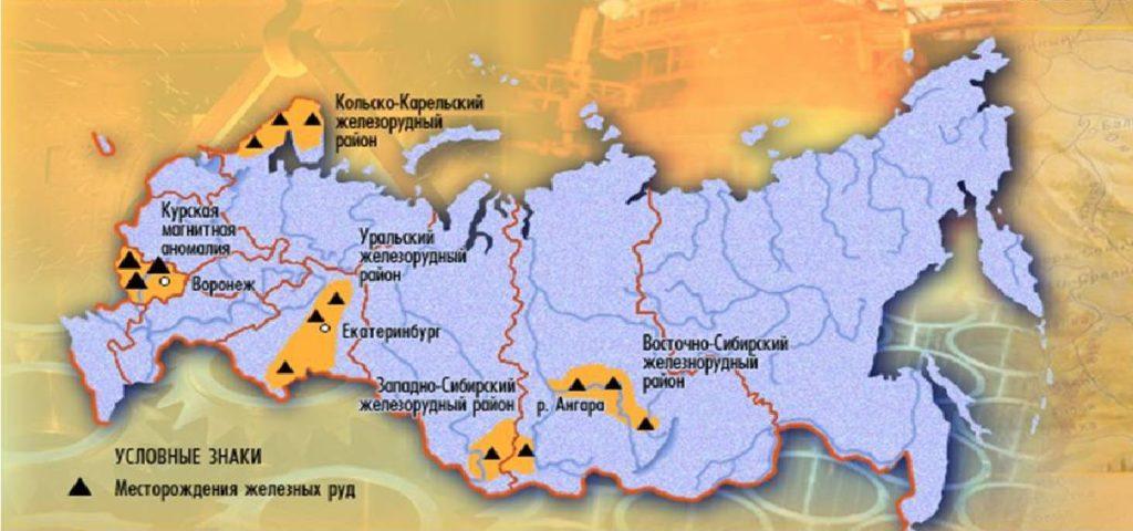 Крупнейшие месторождения железных руд в России