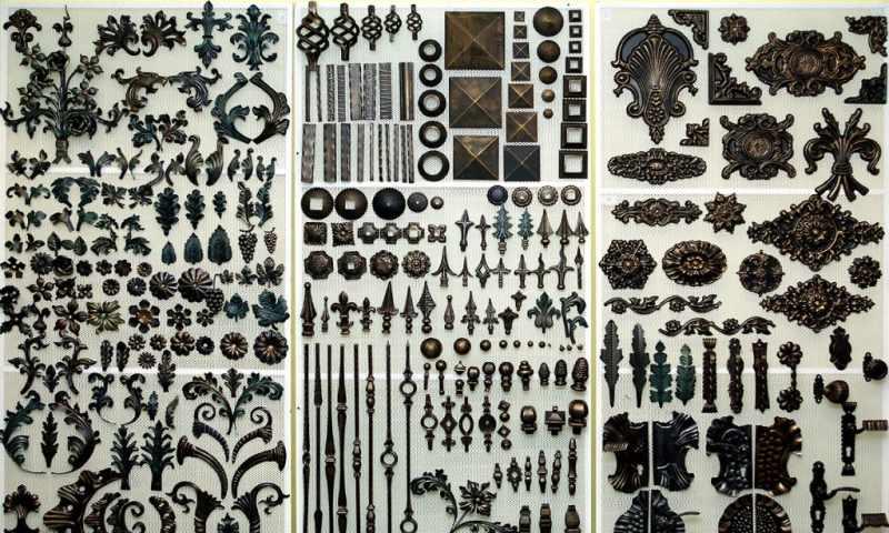 Элементы кованых узоров