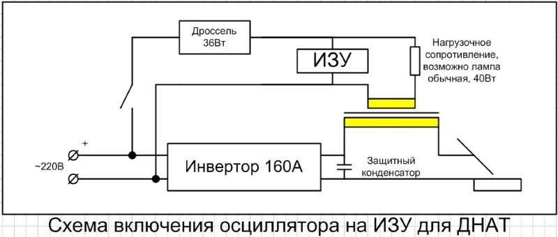 Подключение осциллятора для инвертора
