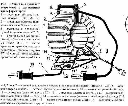 Устройство пускового механизма трансформатора