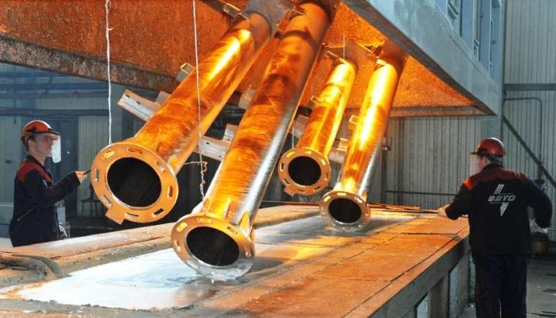 Процесс горячего цинкования труб