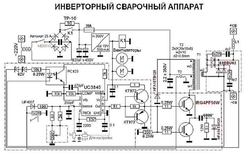 Схема сборки сварочного инвертора