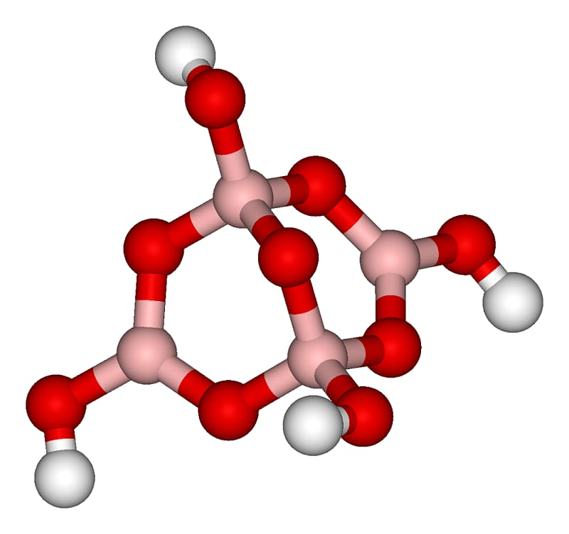 Молекулярная структура тетрабората натрия
