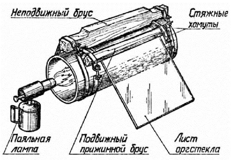 Сгиб с применением металлической трубы