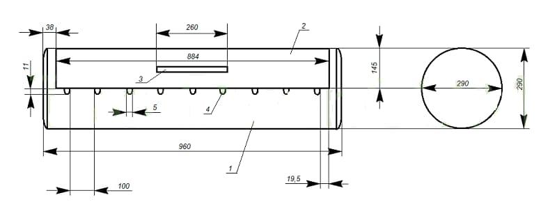 Схема разметки газового баллона