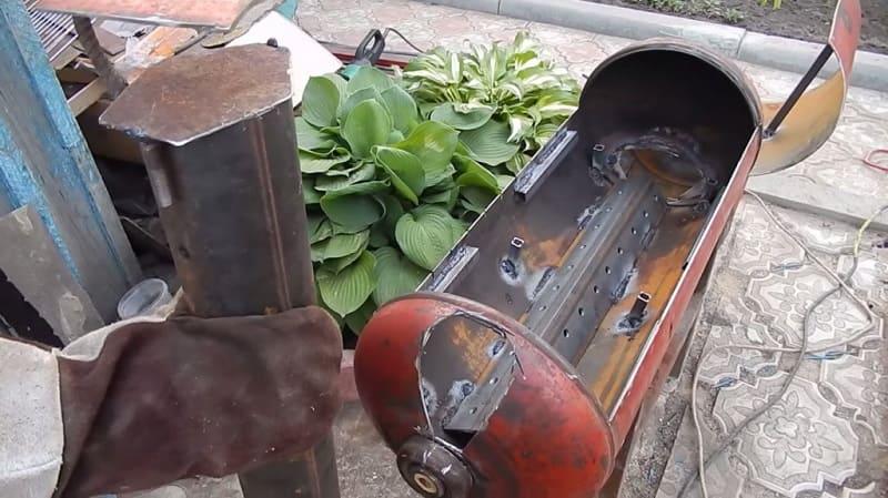 Процесс изготовления мангала из баллона