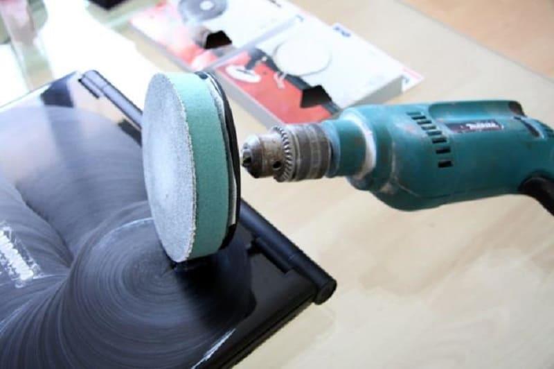 Полирование поверхности при помощи насадки