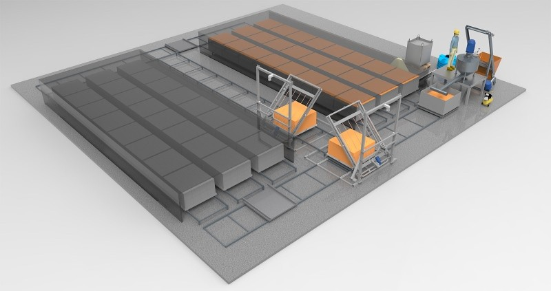 Технологическая линия по производству пеноблоков