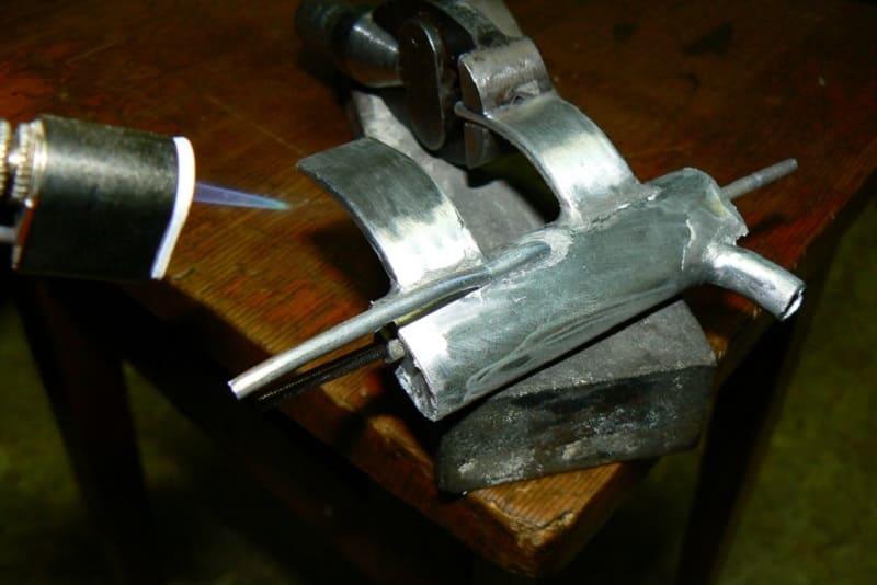 Пайка алюминия при помощи газовой горелки
