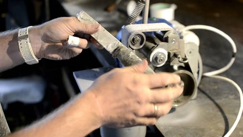 Шлифовка рукоятки для ножа