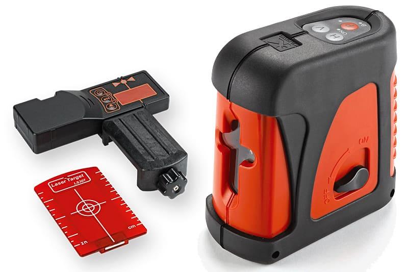 Лазерный уровень с пристрелочной мишенью