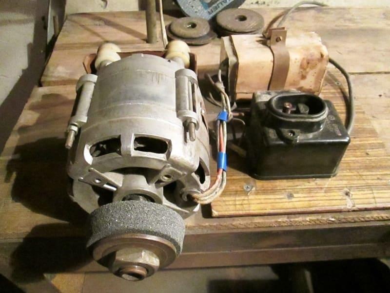 Наждак из двигателя для стиральной машины