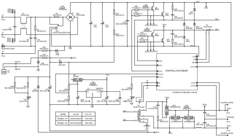 Принципиальная схема сварочного инвертора САИ 200