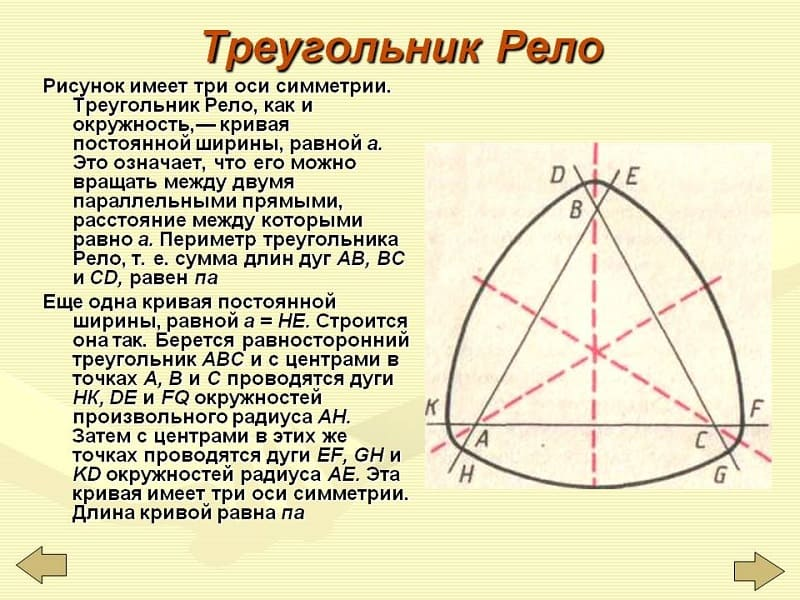 Описание треугольника Рело