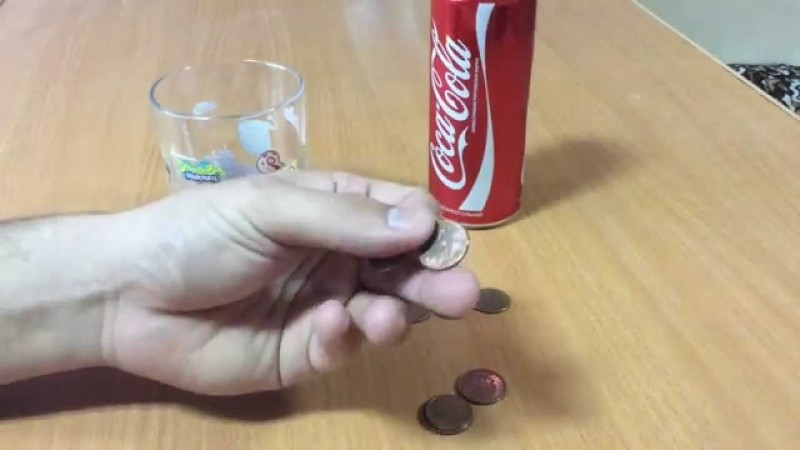 Удаление ржавчины колой