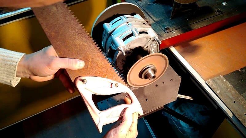 Точим ножовку по дереву видео
