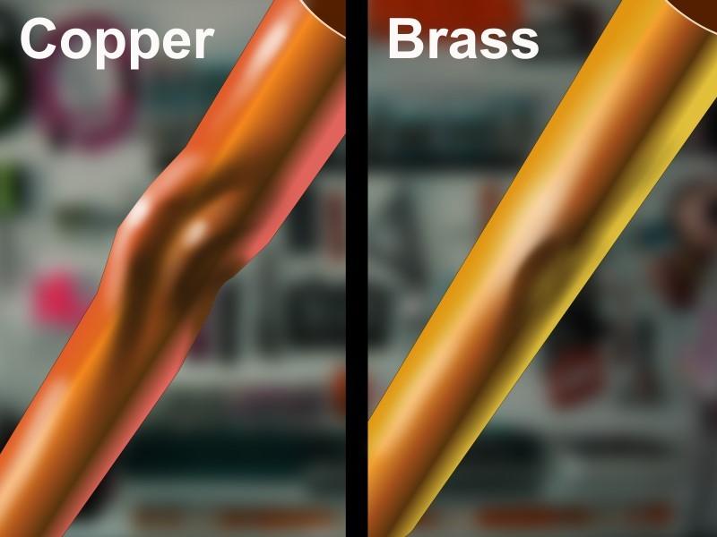 Различие цвета меди и латуни
