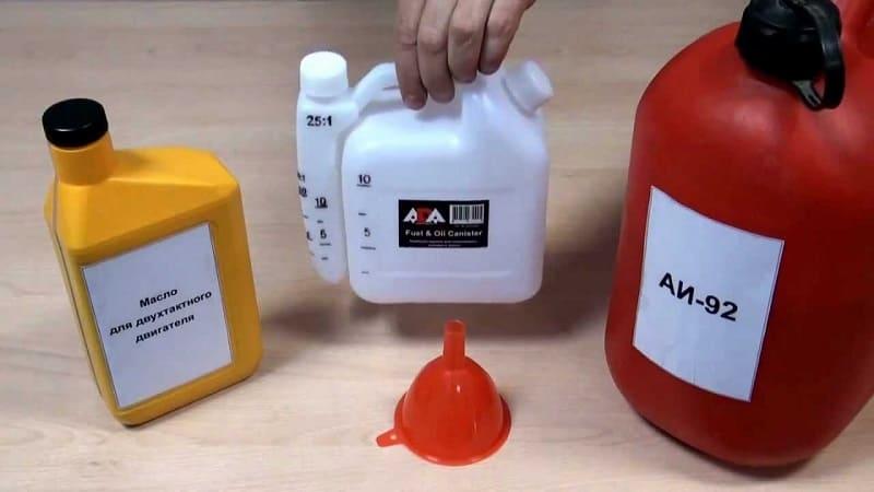 Как разбавить бензин с маслом для бензопилы