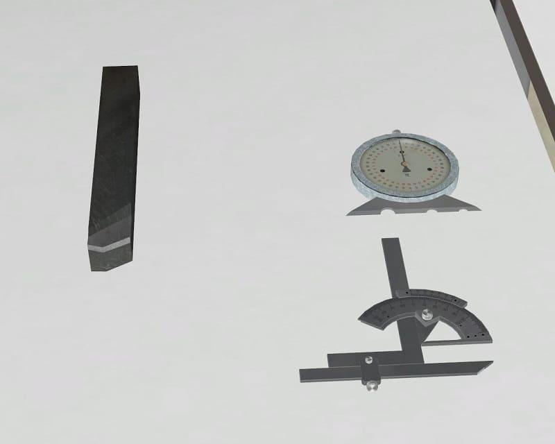 Измерение углов токарного резца