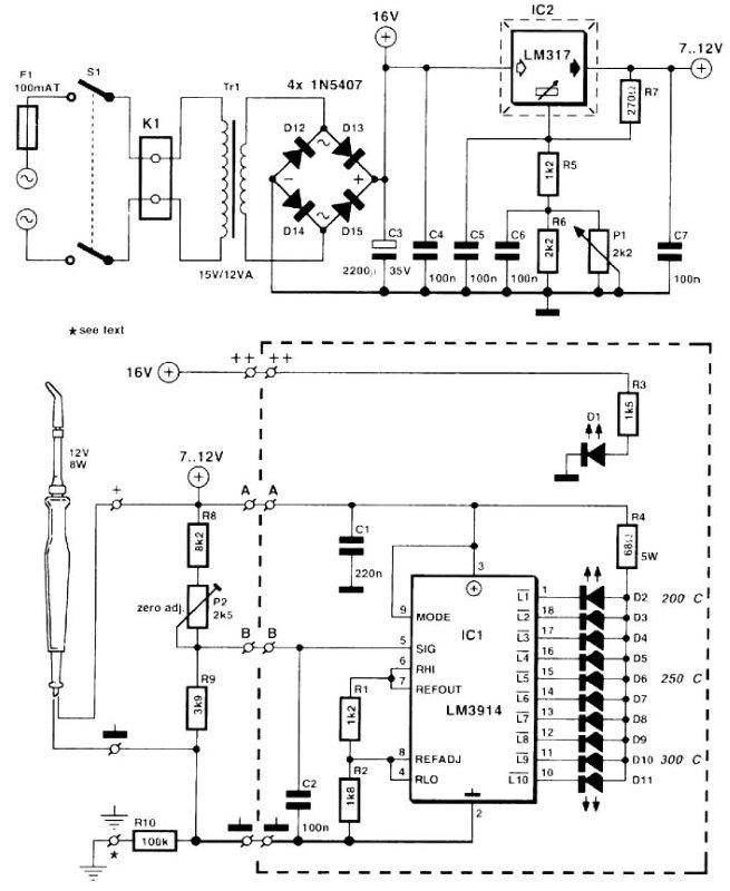 Электрическая схема паяльника