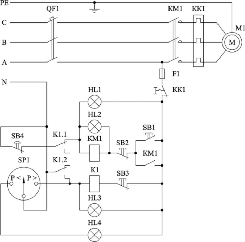 Схема подключения манометра