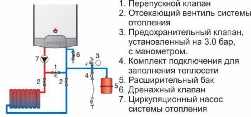 Схема подключения клапана сброса избыточного давления