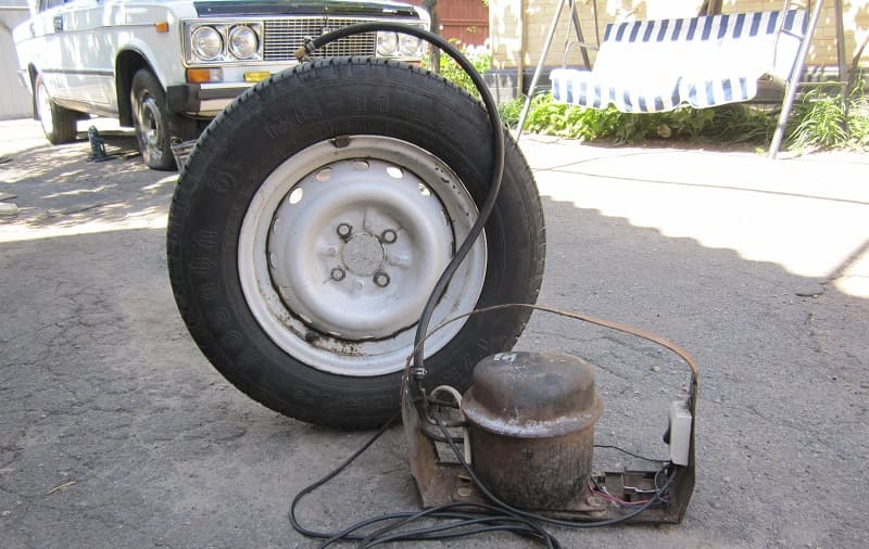 Самодельный компрессор из автомобильной камеры