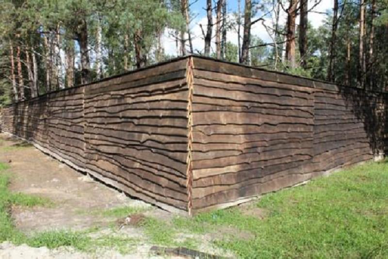 Забор из обапола