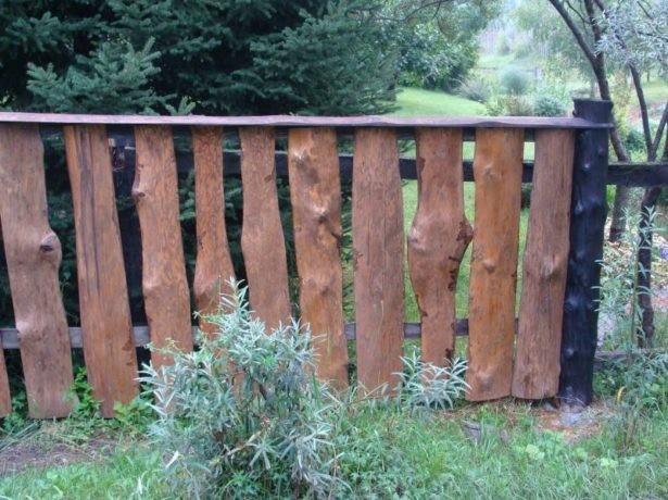 Забор с расстоянием между досками