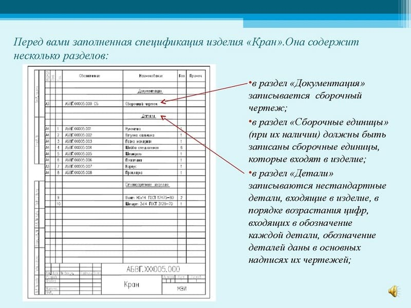 """Заполнение разделов """"Документация"""" и """"Детали"""""""