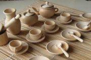 Посуда из дерева, изготовленная на токарном станке