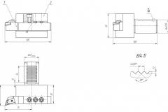 Эскиз державки резцовой для токарных станков