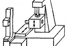 Компоновка одностоечного горизонтального координатно-расточного станка