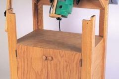 Фрезерный стол с откидывающейся столешницей