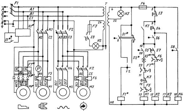 Электрическая схема 1К62