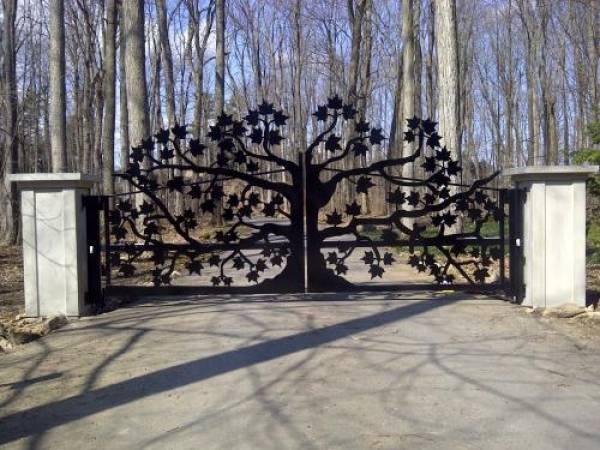 Ворота, вырезанные на плазменной резке